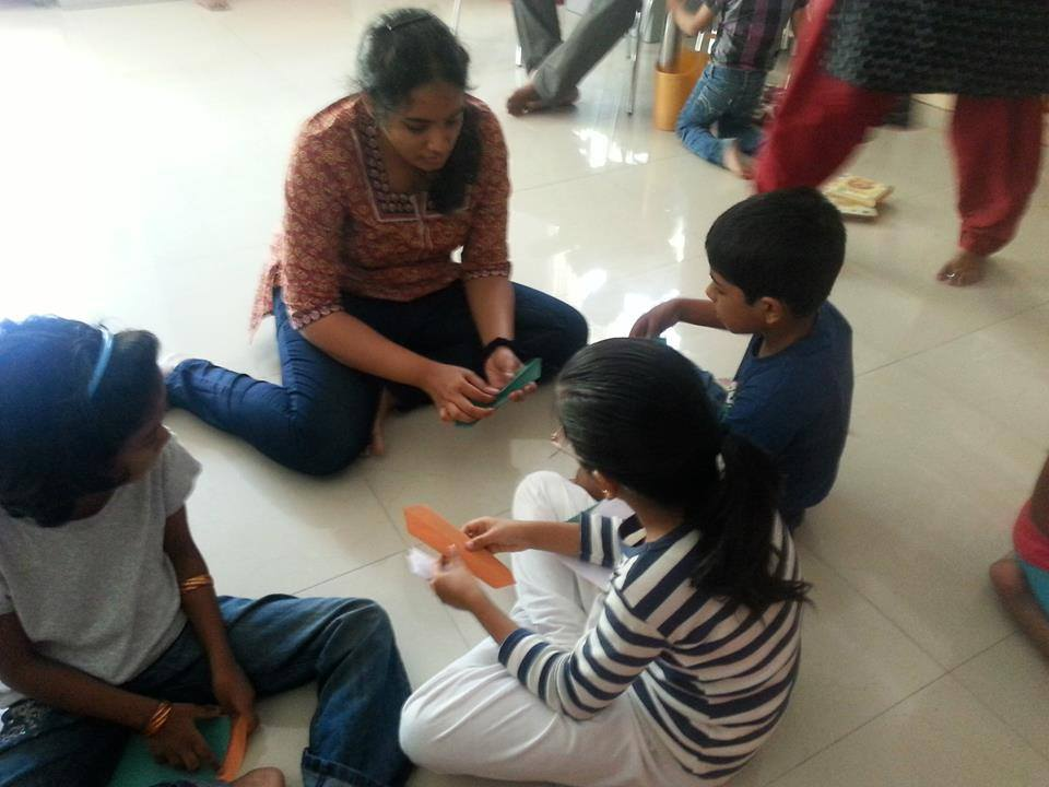 Sharanya with the kids at Hippocampus on 24th January