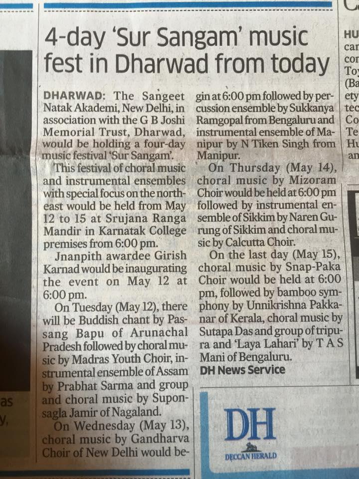 6C - Press report on Dharwar Programme