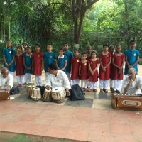 Juniors performing at Nageshwar rao park